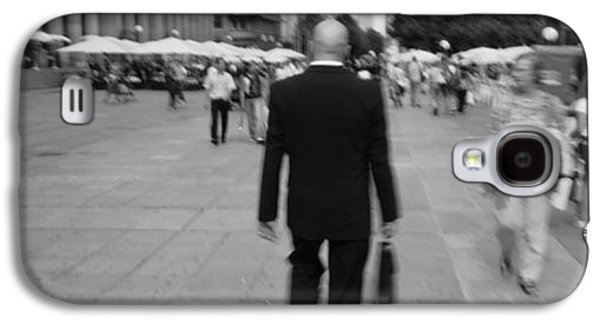 Three Quarter Length Galaxy S4 Cases - Rear View Of A Businessman Walking Galaxy S4 Case by Panoramic Images