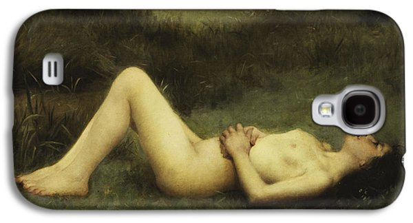 19th Century Galaxy S4 Cases - Reclining Nude Galaxy S4 Case by Louis Courtat