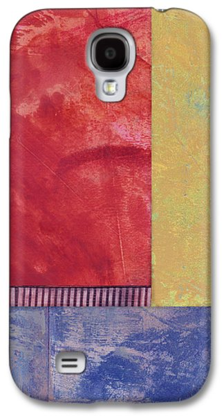 Avant Garde Mixed Media Galaxy S4 Cases - Rectangles - abstract -art  Galaxy S4 Case by Ann Powell