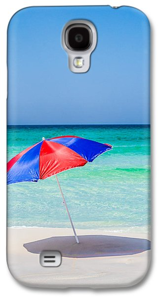 Splashy Galaxy S4 Cases - Red and Blue Galaxy S4 Case by Shelby  Young