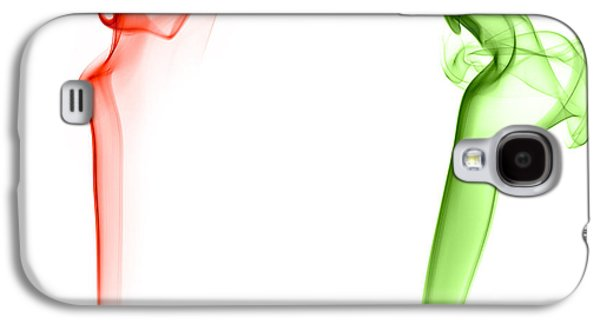 Smoke Digital Art Galaxy S4 Cases - Red and Green Chili Smoke Photography Galaxy S4 Case by Sabine Jacobs