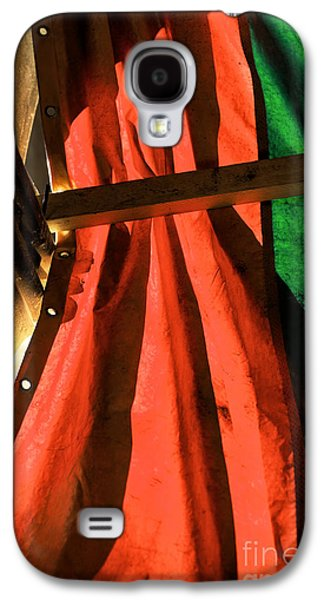 Shades Of Red Galaxy S4 Cases - Red and Green in Venice Galaxy S4 Case by John Rizzuto