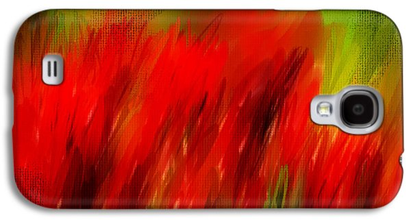 Spring Bulbs Paintings Galaxy S4 Cases - Red And Green Galaxy S4 Case by Lourry Legarde