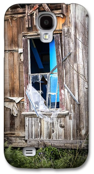 Abandoned House Photographs Galaxy S4 Cases - Red and White and Blue Galaxy S4 Case by Caitlyn  Grasso