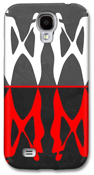 Love Making Galaxy S4 Cases - Red and White Dance 2 Galaxy S4 Case by Naxart Studio