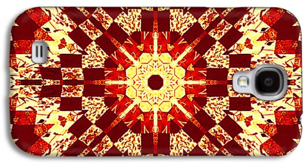 Block Quilts Tapestries - Textiles Galaxy S4 Cases - Red and White Patchwork Art Galaxy S4 Case by Barbara Griffin