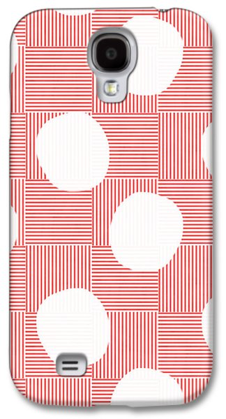 Red And White Poof  Galaxy S4 Case by Linda Woods