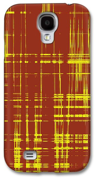 Ben Gertsberg Digital Art Galaxy S4 Cases - Red And Yellow Wave No 1 Galaxy S4 Case by Ben and Raisa Gertsberg