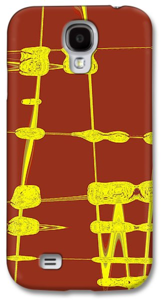 Red And Yellow Wave No 4 Galaxy S4 Case by Ben and Raisa Gertsberg