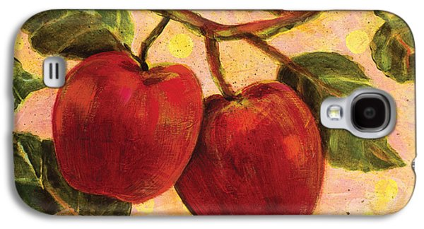 Fruit Tree Art Galaxy S4 Cases - Red Apples on a Branch Galaxy S4 Case by Jen Norton