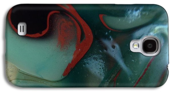 Modern Abstract Glass Art Galaxy S4 Cases - Red Axe Galaxy S4 Case by Gaby Tench