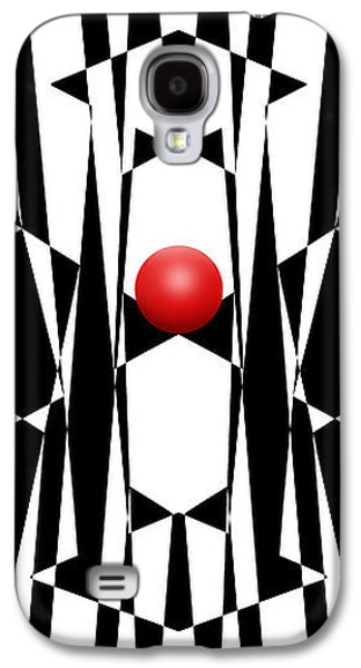 Abstracted Galaxy S4 Cases - Red Ball 20 V Panoramic Galaxy S4 Case by Mike McGlothlen