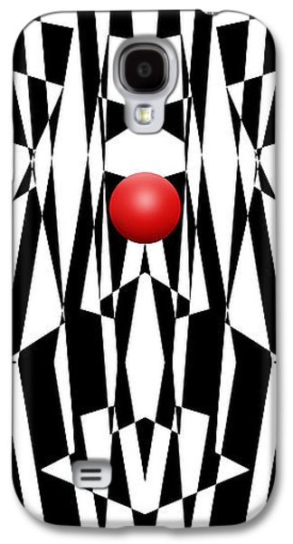 Abstracted Galaxy S4 Cases - Red Ball 21 V Panoramic Galaxy S4 Case by Mike McGlothlen