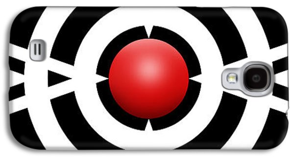 Circles Drawings Galaxy S4 Cases - Red Ball 6a Panoramic Galaxy S4 Case by Mike McGlothlen