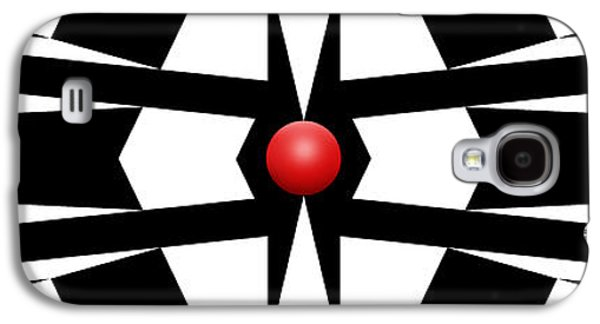 Abstracts Galaxy S4 Cases - Red Ball 9a Panoramic Galaxy S4 Case by Mike McGlothlen