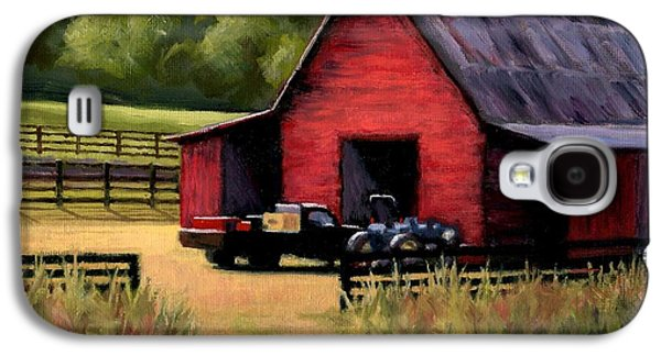 Best Sellers -  - Janet King Galaxy S4 Cases - Red Barn in Leipers Fork Tennessee Galaxy S4 Case by Janet King
