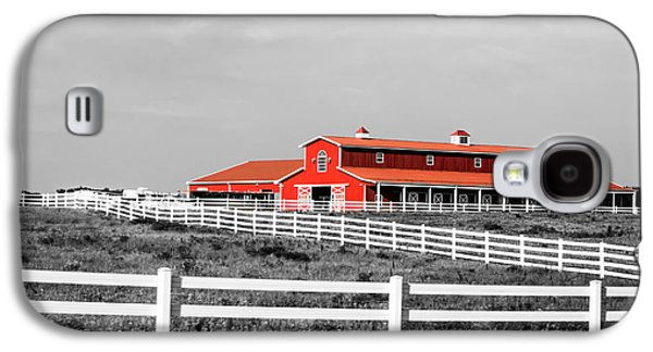 Harvest Time Galaxy S4 Cases - Red Barn Galaxy S4 Case by Parker Cunningham