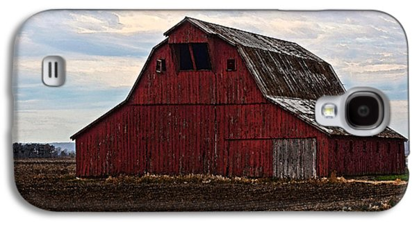 Acrylic Pyrography Galaxy S4 Cases - Red barn photoart Galaxy S4 Case by Debbie Portwood