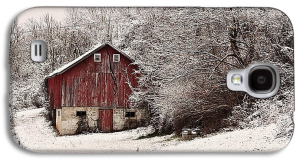 Landscape Posters Galaxy S4 Cases - red barn West Virginia Galaxy S4 Case by Chris Flees