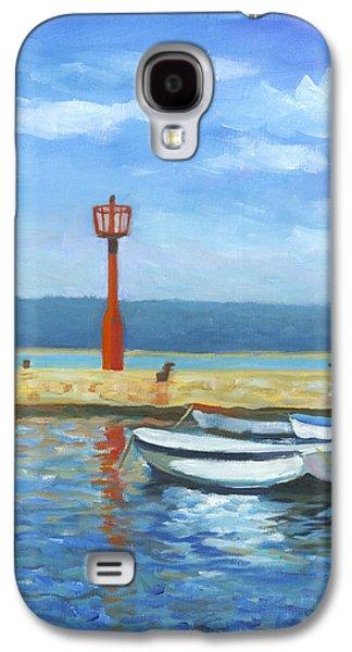 Boats At Dock Galaxy S4 Cases - Red Beacon Galaxy S4 Case by Joe Maracic