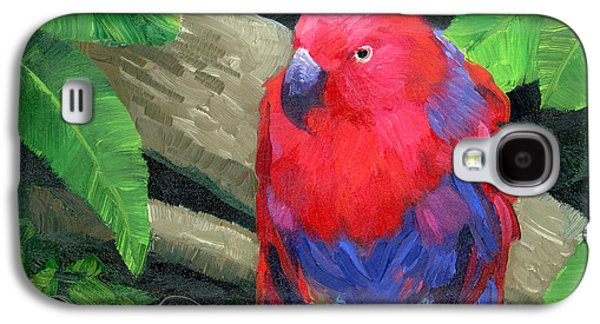 Red Bird Galaxy S4 Case by Alice Leggett