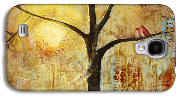 Red Birds Tree Version 2 Galaxy S4 Case by Blenda Studio