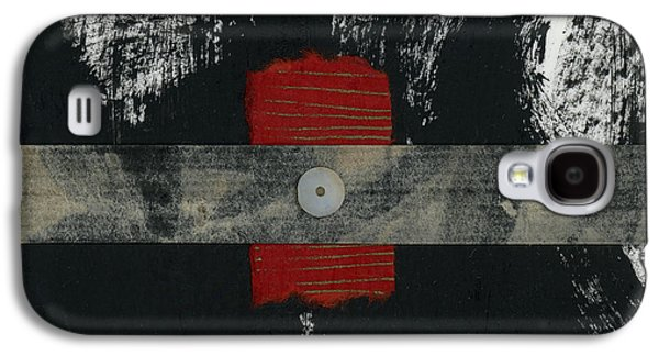 Red Black And White Collage 2 Galaxy S4 Case by Carol Leigh