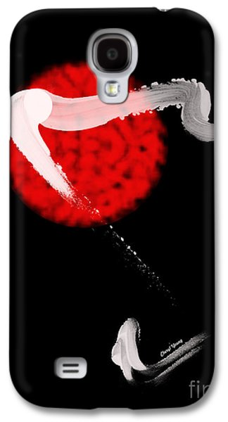 Abstract Digital Photographs Galaxy S4 Cases - Red Bull Galaxy S4 Case by Cheryl Young