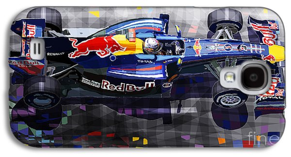 Automotive Galaxy S4 Cases - Red Bull RB6 Vettel 2010 Galaxy S4 Case by Yuriy  Shevchuk