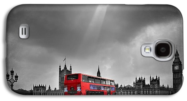 Red Bus Galaxy S4 Case by Svetlana Sewell