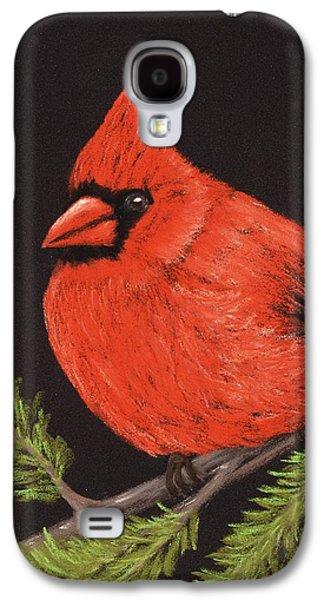 Drawing Pastels Galaxy S4 Cases - Red Cardinal Galaxy S4 Case by Anastasiya Malakhova