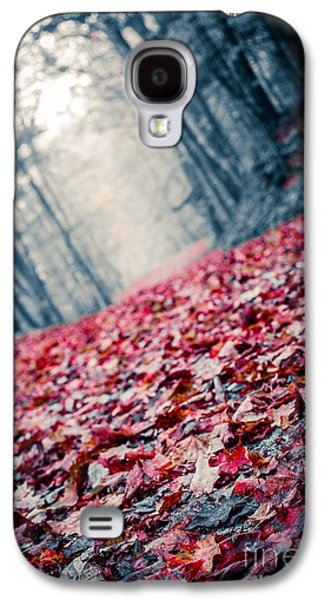 Forest Floor Galaxy S4 Cases - Red Carpet Galaxy S4 Case by Edward Fielding
