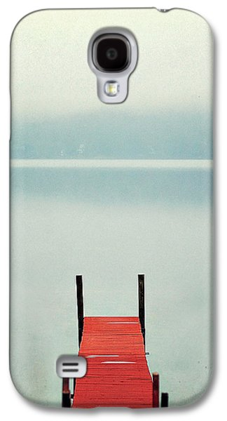 Docked Boat Galaxy S4 Cases - Red Galaxy S4 Case by Carrie Ann Grippo-Pike