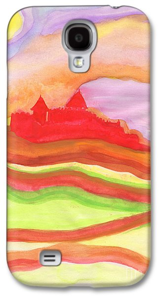 Archetype Paintings Galaxy S4 Cases - Red Castle Galaxy S4 Case by First Star Art