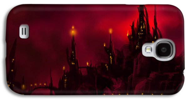 Thunder Paintings Galaxy S4 Cases - Red Castle Galaxy S4 Case by James Christopher Hill
