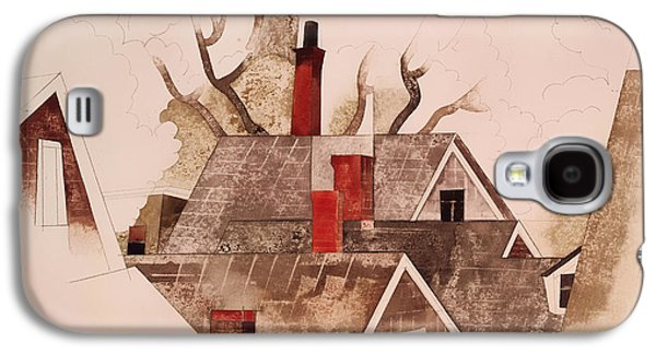 Historic Home Drawings Galaxy S4 Cases - Red Chimneys Galaxy S4 Case by Charles Demuth