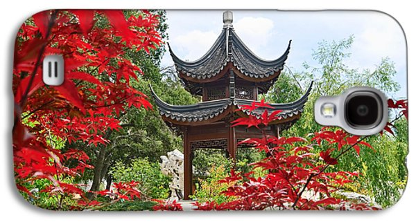 Red - Chinese Garden With Pagoda And Lake. Galaxy S4 Case by Jamie Pham