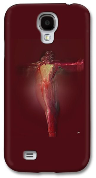 Abstract Digital Art Galaxy S4 Cases -  Crucified By Quim Abella Galaxy S4 Case by Joaquin Abella