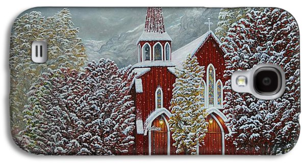 Sonora Paintings Galaxy S4 Cases - Red Church Galaxy S4 Case by Jerry   Graham