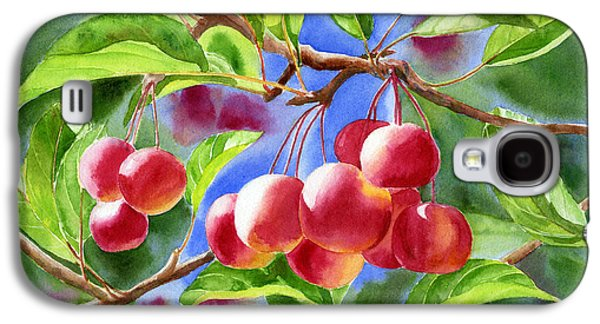 Apple Trees Galaxy S4 Cases - Red Crab Apples with Background Galaxy S4 Case by Sharon Freeman