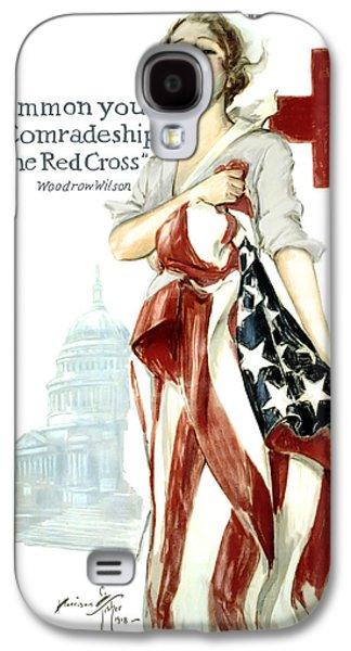 Rowboat Digital Art Galaxy S4 Cases - Red Cross World War 1 Poster  1918 Galaxy S4 Case by Daniel Hagerman