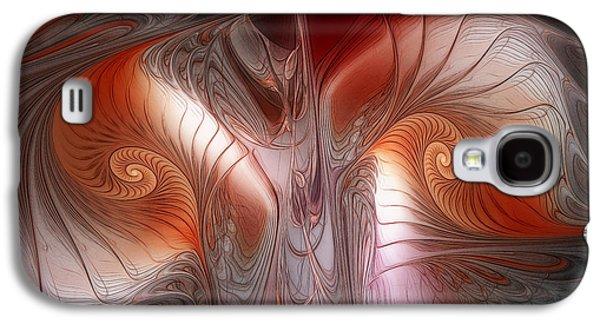 Red Dawn-fractal Design Galaxy S4 Case by Karin Kuhlmann