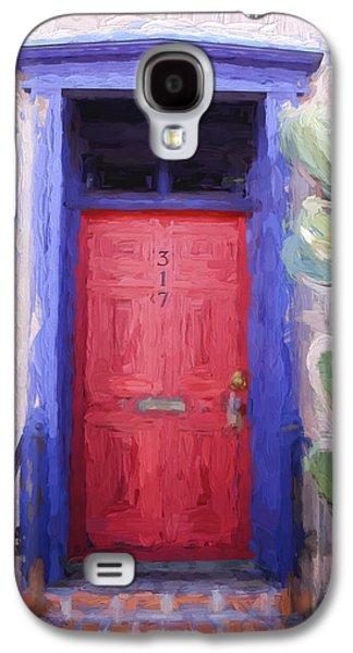 Carol Leigh Galaxy S4 Cases - Red Door 317 Tucson Barrio Painterly Effect Galaxy S4 Case by Carol Leigh
