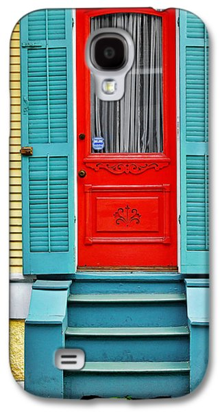 Entrance Door Galaxy S4 Cases - Red Door in New Orleans Galaxy S4 Case by Christine Till