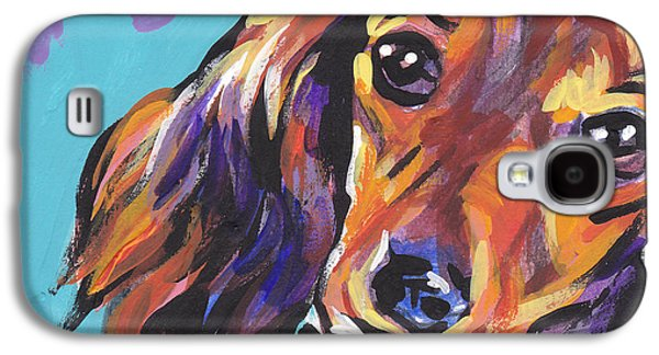 Puppies Galaxy S4 Cases - Red Doxie Baby Galaxy S4 Case by Lea