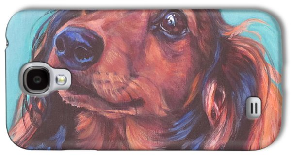 Red Doxie Galaxy S4 Case by Lee Ann Shepard