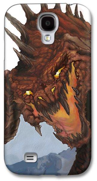 Dungeons Galaxy S4 Cases - Red Dragon Galaxy S4 Case by Matt Kedzierski