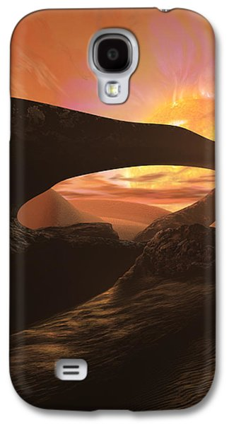 Cosmos Paintings Galaxy S4 Cases - Red Dwarf Sun Galaxy S4 Case by Don Dixon