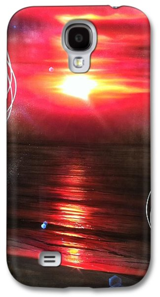 Sunset Prints Galaxy S4 Cases - Red Earth Galaxy S4 Case by Christian Chapman Art