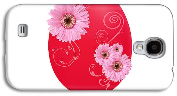 Flora Drawings Galaxy S4 Cases - Red Easter Egg Galaxy S4 Case by Aged Pixel